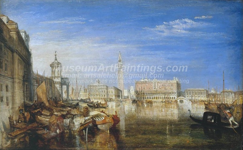 Venice Paintings Bridge of Sighs Ducal Palace and Custom House
