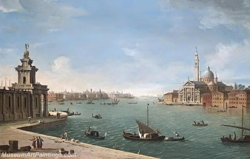 Venice the Bacino di San Marco looking east with the Punta della Dogana and San Giorgio Maggiore Painting