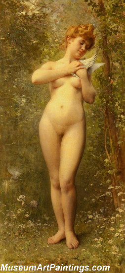 Venus With A Dove by Leon Jean Basile Perrault