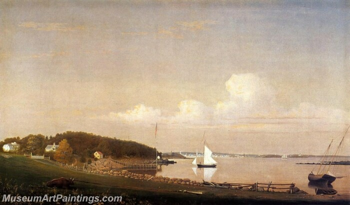 View of Gloucester from Brookbank the Sawyer Homestead Painting