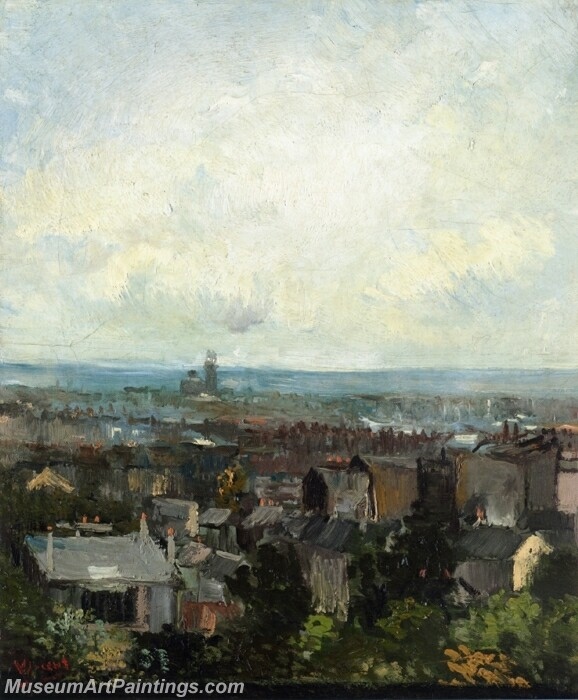 View of Paris from near Montmartre Painting