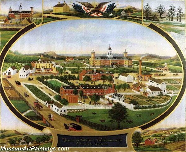 Views of the Buildings and Surroundings of the Berks County Almshouse
