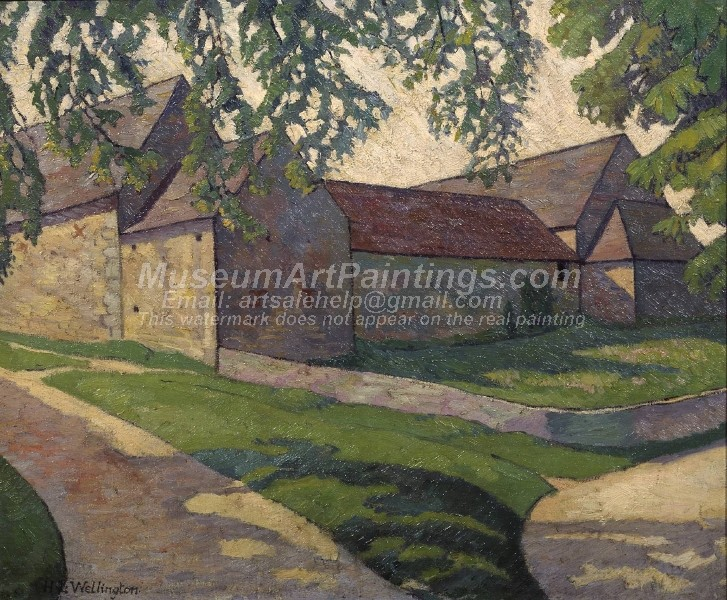 Village Paintings The Big Barn Frampton Mansell