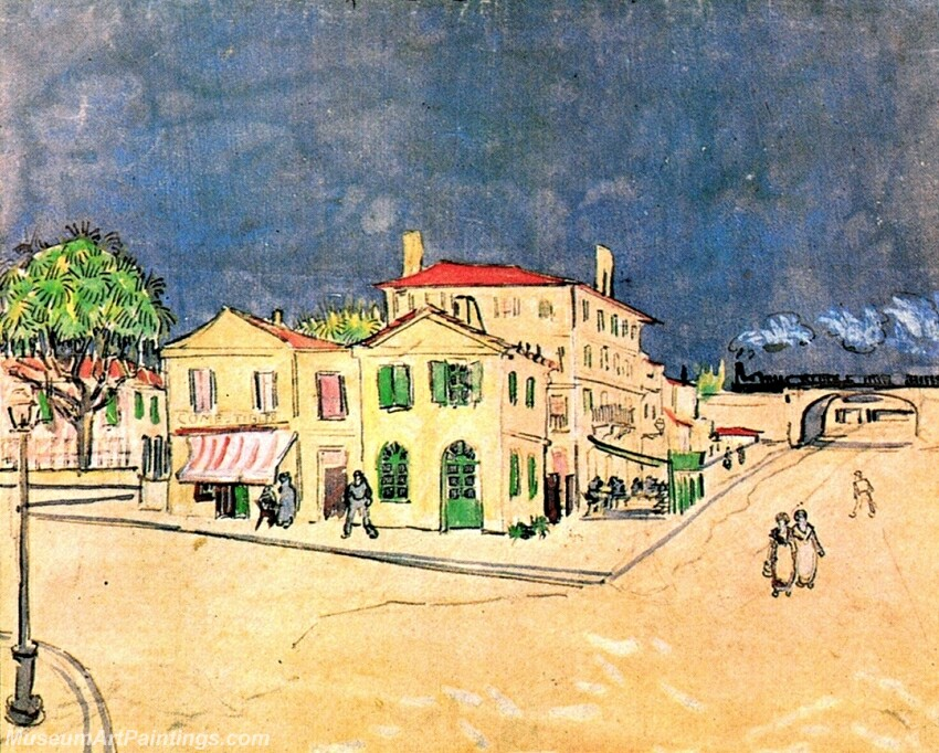 Vincent's House in Arles Painting