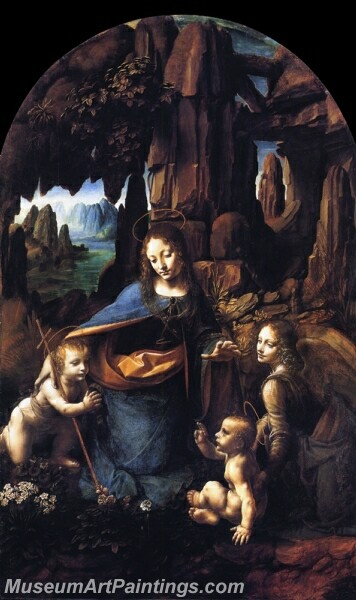 Virgin of the Rocks Painting