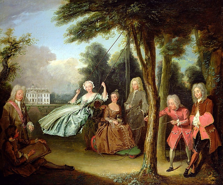 Viscount Tyrconnel with his family by Philipe Mercier
