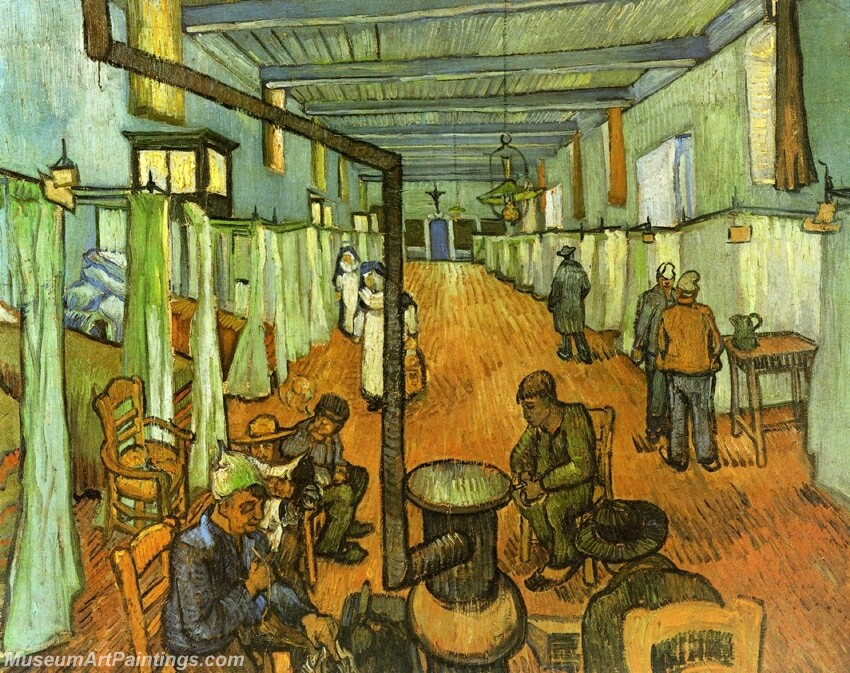 Ward in the Hospital at Arles Painting
