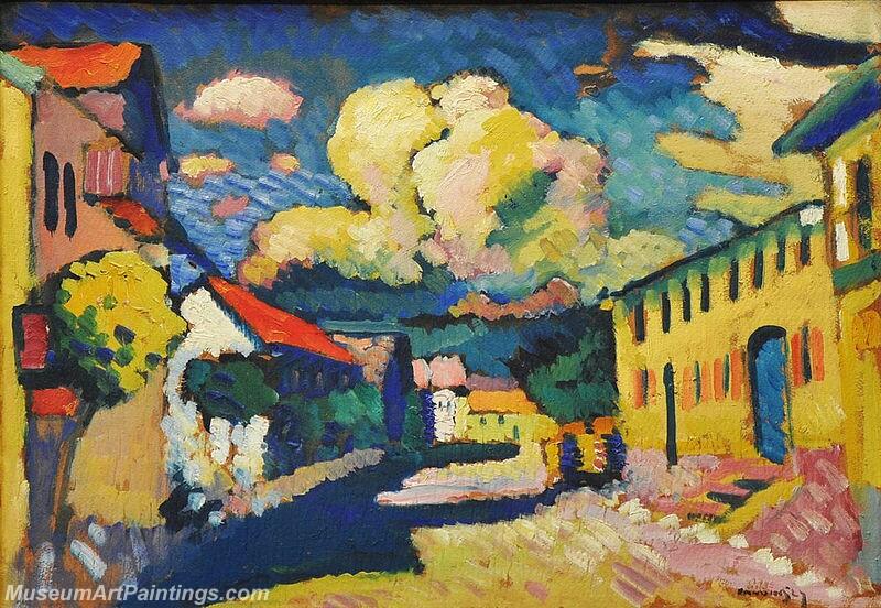 Wassily Kandinsky 1908 Murnau Dorfstrasse Painting