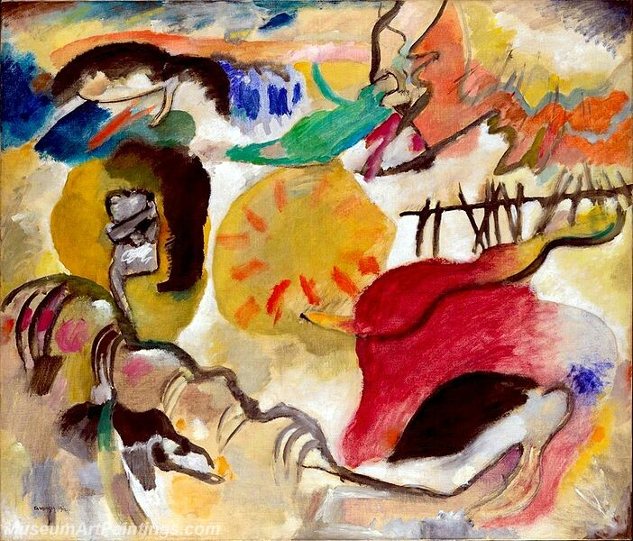 Wassily Kandinsky The Garden of Love Painting