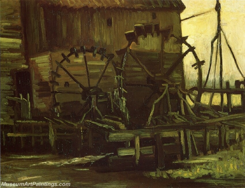 Water Wheels of Mill at Gennep Painting