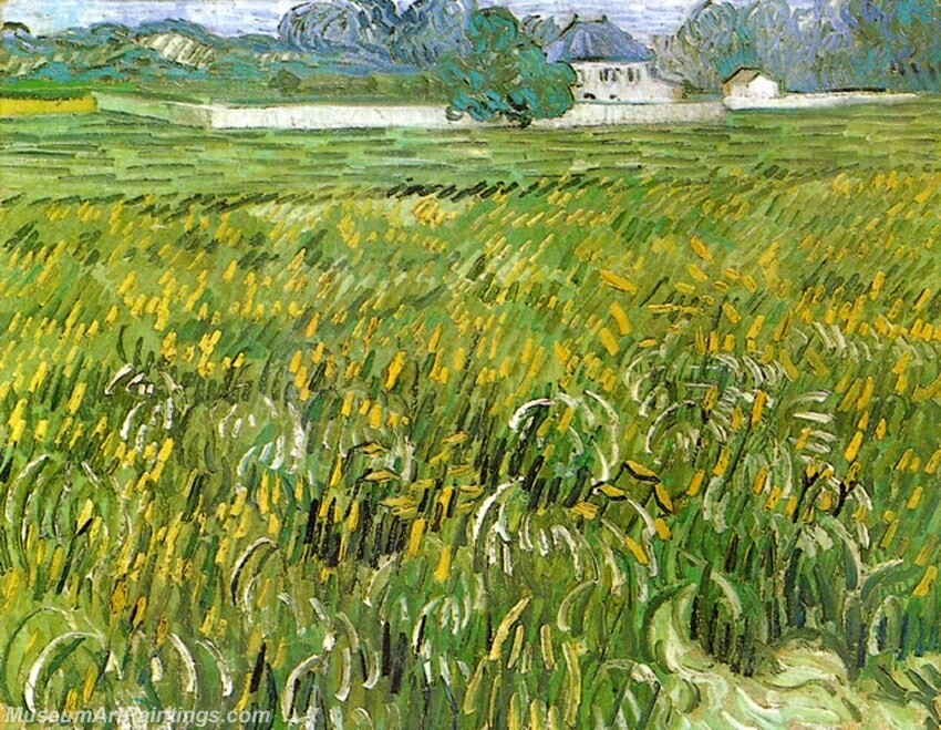 Wheat Field at Auvers with White House Painting
