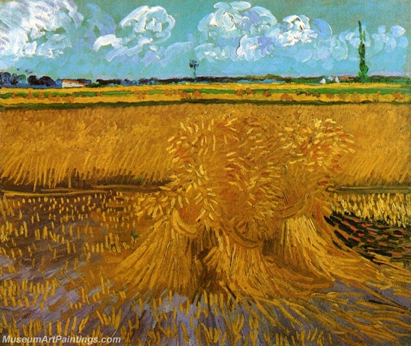Wheat Field with Sheaves Painting