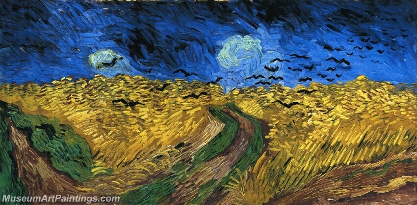 Wheatfield with Crows Painting