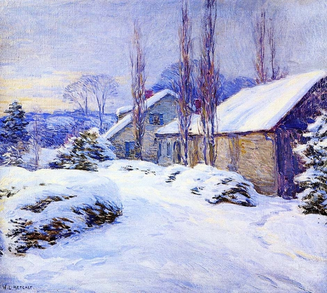 Winter Afternoon by Willard Leroy Metcalf