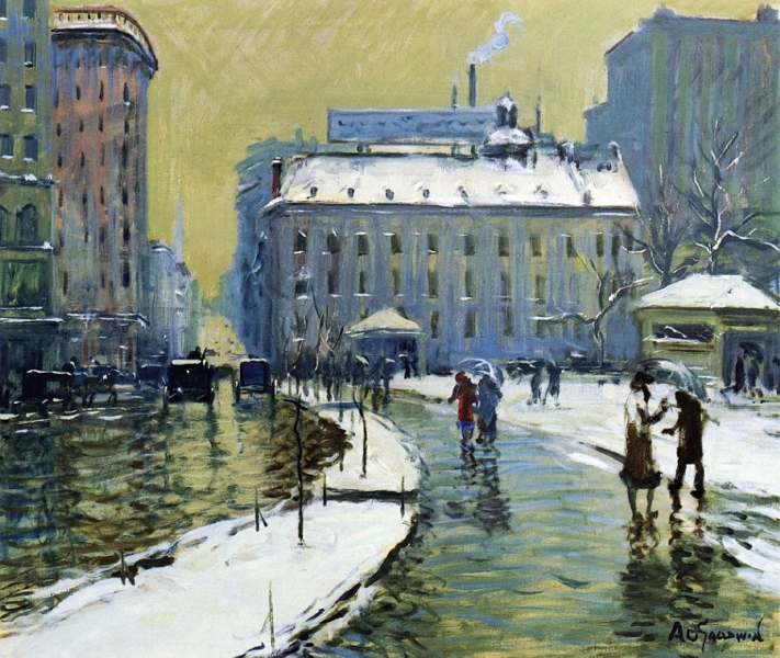 Winter Boston by Arthur Clifton Goodwin