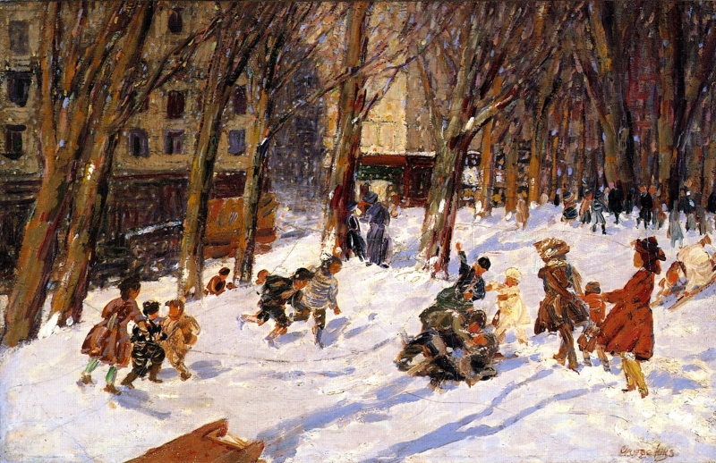 Winter High Bridge Park by George Benjamin Luks