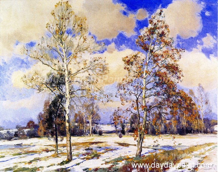 Winter Landscape Paintings Birches in Winter