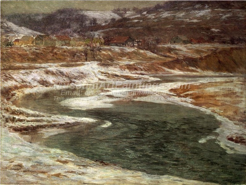 Winter Landscape Paintings Winter Brookville
