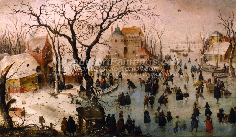 Winter Landscape with a Castle Painting