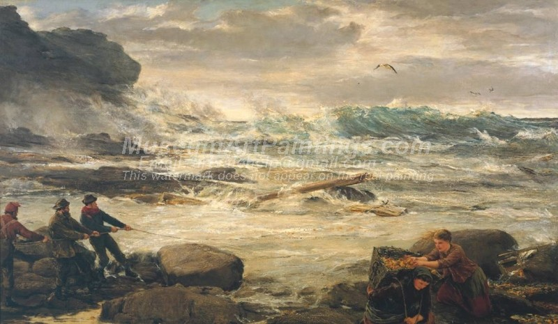 Wreckage from the Fruiter Painting by James Clarke Hook